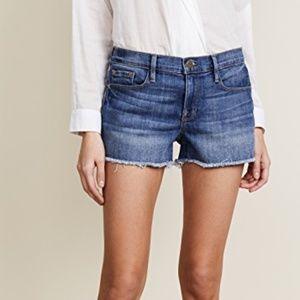 FRAME Le Cutoff Shorts Raw Frayed Hem Size 24